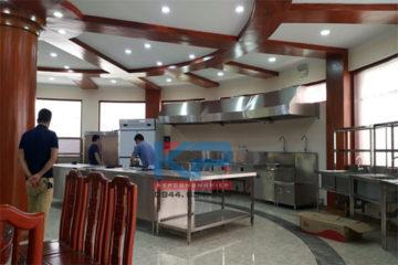 lắp đặt bếp ăn điện từ  tại bộ quốc phòng- Hà Nội
