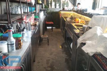 Lắp đặt thiết bị quầy pha chế inox tại Long Biên