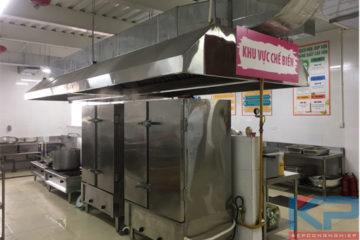 Lắp đặt hệ thống thiết bị bếp ăn công nhân