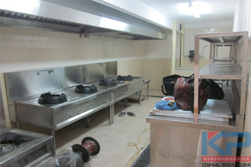 Lắp đặt bếp ăn công nhân 500 xuất ăn