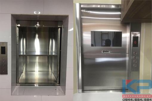Thang máy tời thực phẩm 150kg- 4 tầng