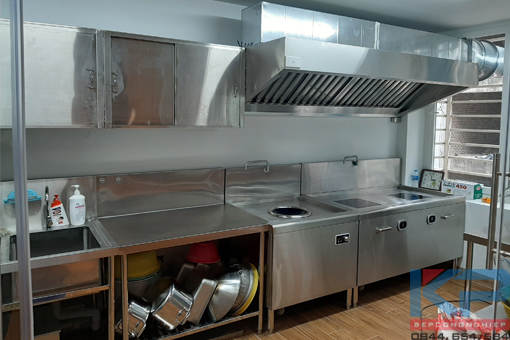 Lắp đặt bếp ăn nhân viên công ty tại Hà Nội
