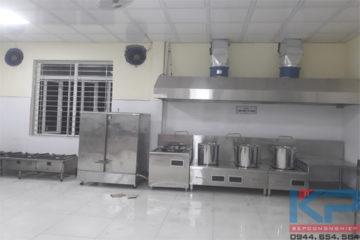 Thiết bị bếp công nghiệp trường học đảm bảo vệ sinh