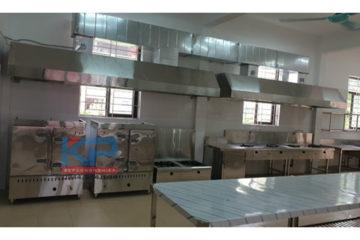 Hệ thống bếp công nghiệp cho trường tiểu học tại Bắc Ninh
